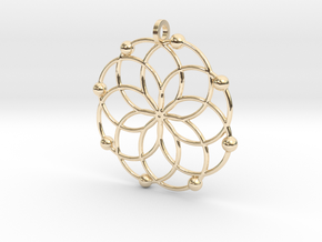 MC Pendant in 14k Gold Plated Brass