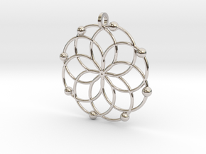 MC Pendant in Rhodium Plated Brass