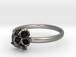 Roses Ring in Natural Silver: 7 / 54