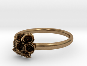 Roses Ring in Natural Brass: 7 / 54