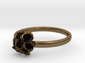 Roses Ring in Natural Bronze: 7 / 54