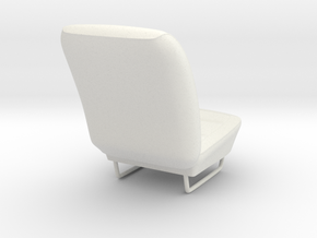 Dodge Charger Daytona 1969 Front Seat (1:8 1:16) in White Natural Versatile Plastic: 1:8