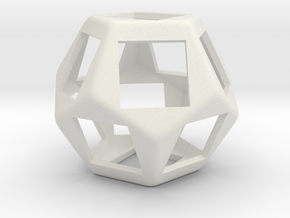 Fidget Dodecahedron for Cherry MX switches rev.2 in White Natural Versatile Plastic