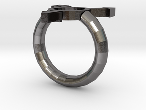 Trans Pride Ring in Polished Nickel Steel: 7 / 54