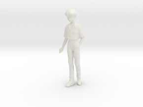 1/24 Male Student in Uniform in White Natural Versatile Plastic