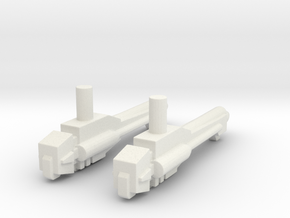 Titans Return Cloudraker Weapons in White Natural Versatile Plastic