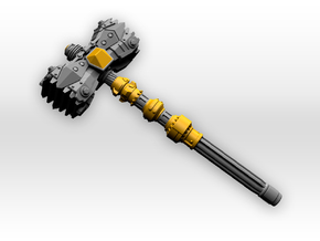 1 piece Hammer for Bumblebee (The Last Knight)  in White Processed Versatile Plastic