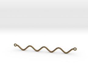 Cosine Function Necklace in Natural Bronze