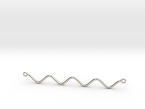 Cosine Function Necklace in Rhodium Plated Brass