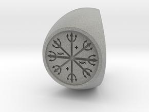 Custom Signet Ring 54 in Metallic Plastic