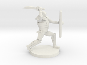 36mm Jay Zombie hunter (with Pistol) in White Natural Versatile Plastic