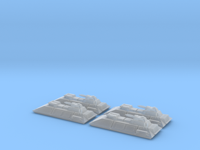 1/270 Imperial 1-L Tanks (4) in Smooth Fine Detail Plastic