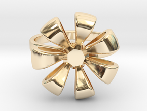 Flower Ring in 14K Yellow Gold