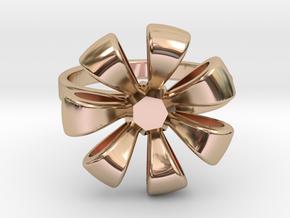 Flower Ring in 14k Rose Gold Plated Brass