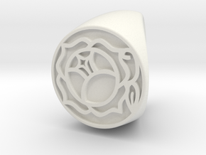 Utena Ring Size 3 in White Natural Versatile Plastic