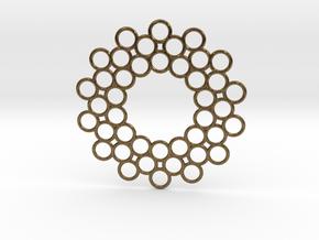 Circle Around Pendant in Natural Bronze