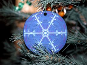 Snowflake Ornament 02 in Full Color Sandstone