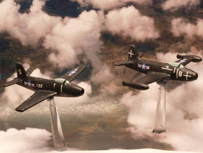 North American Aviation FJ-1 Fury (Pair) 1/285 6mm in White Natural Versatile Plastic