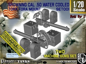 1-20 Cal 50 M2 Water Cooled Set in Smooth Fine Detail Plastic