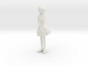 1/35 School Girl in Uniform in White Natural Versatile Plastic