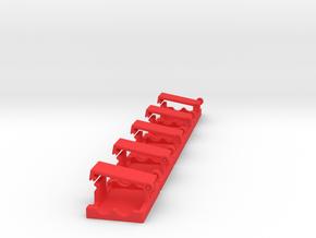 Safety Clips for XT-60 Connectors (Set 5 Pieces) in Red Processed Versatile Plastic