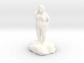 Lirillen, the jolly halfling bard in White Processed Versatile Plastic