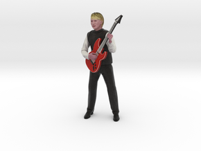 Guitar player 22CM High in Full Color Sandstone