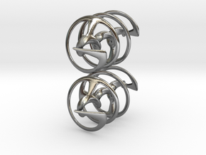 Auger - Earrings in precious metal in Polished Silver