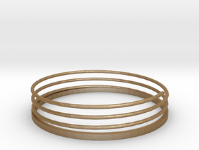 Spiral Bracelet in Matte Gold Steel