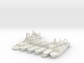 Cod War Set 1 1:700/600 in White Natural Versatile Plastic: 1:600