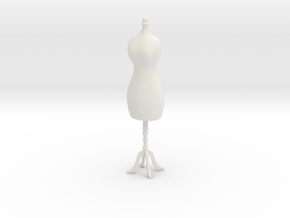 Female mannequin 01. 1:12 Scale in White Strong & Flexible