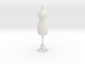 Female mannequin 01. 1:12 Scale in White Natural Versatile Plastic