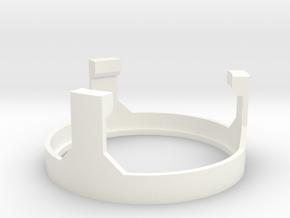 MPP2.0 - Part 7/10 - SpeakerHolderTop in White Processed Versatile Plastic