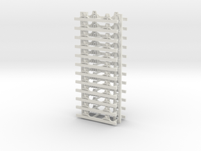 009 underframe for my medium 009 wagons 12 off in White Natural Versatile Plastic
