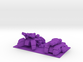 1/350 SeigeTank Both Tank and Seige Modes in Purple Processed Versatile Plastic