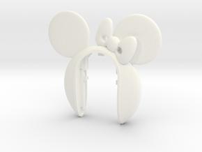 MINIE #7 key fob for MINI COOPER F MODELS in White Processed Versatile Plastic