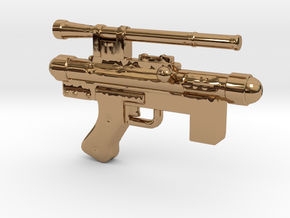 Star Wars Blaster Pistol SE-14C 1:12 scale in Polished Brass