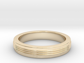 Three Strand Ring in 14k Gold Plated Brass: 3 / 44