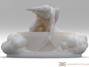 Stand for The Ancient of Days Statuette + Lamp in White Natural Versatile Plastic