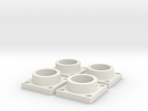 MPConnector - Connector Feet 4 pack in White Natural Versatile Plastic