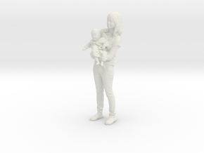 Mother and son - 369 in White Natural Versatile Plastic
