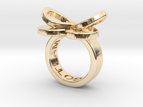 AMOUR petite in 14k gold in 14K Yellow Gold: 3 / 44