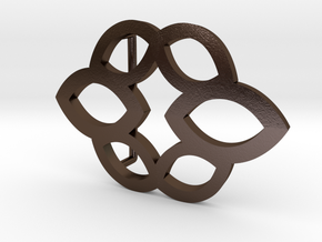 MarquisBeltBuckle in Polished Bronze Steel
