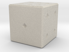 6 numbered dice  in Natural Sandstone