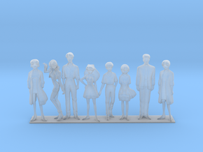1/72 NERV Team Families Friends in Smooth Fine Detail Plastic