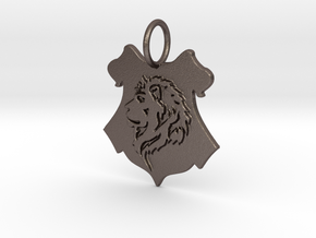 Gryffindor Lion Pendant in Polished Bronzed Silver Steel
