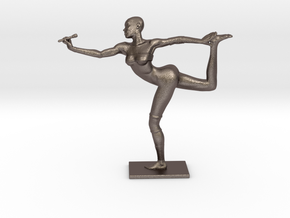 Grace_Jones_100mm in Polished Bronzed Silver Steel