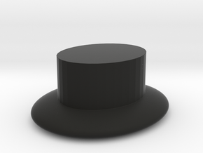 plain hat  in Black Natural Versatile Plastic: Extra Small