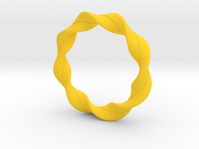 braclet2 in Yellow Processed Versatile Plastic: Small