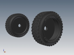 1-87 Ford Raptor Tire in White Strong & Flexible